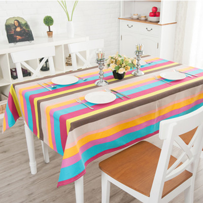 Cocoa rustic stripe print waterproof disposable coffee table dining table cloth fabric tablecloth customize(China (Mainland))