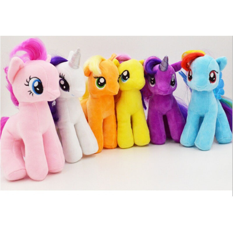 """New Lovely 7""""Horse Figures Stuffed Plush Soft Teddy Doll Baby Toy(China (Mainland))"""