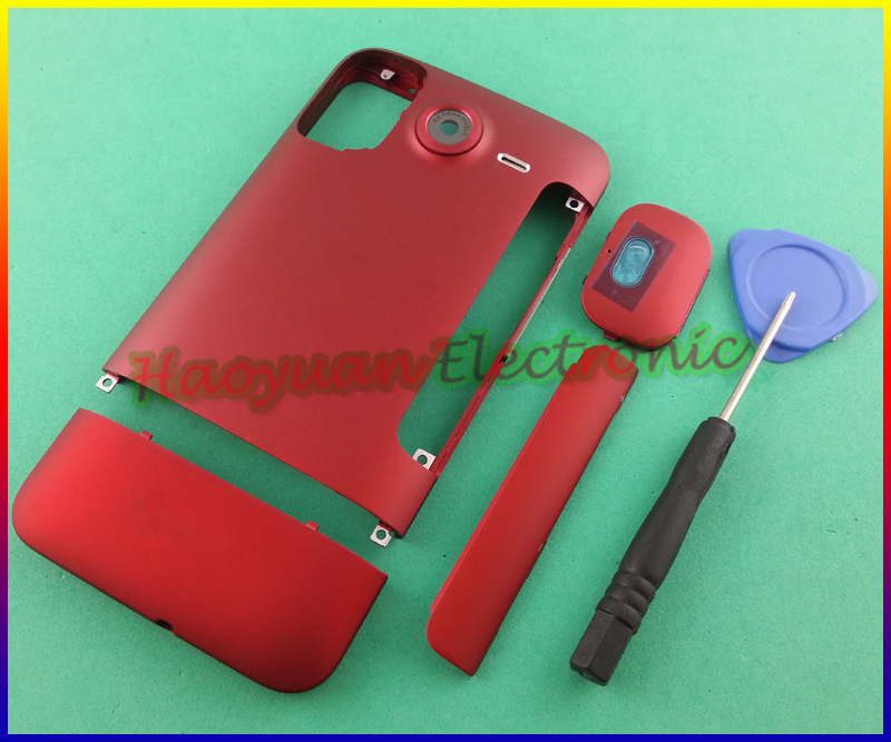 Red/Black/Coffee New 100% Original Housing Battery Back Cover Case Door+Buttons For HTC Desire HD Inspire 4G G10 A9191 with LOGO(China (Mainland))