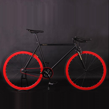 Buy HOT Sale 11.11 Fixed Gear Bike Fixie Bike 52cm Frame DIY Muscular Frame Cycling Road Bike Aluminum Alloy Frame Fixie Bicycle for $179.10 in AliExpress store