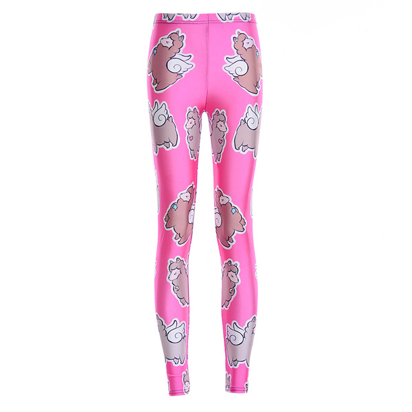 Punk Promotion Limited Low 2015 Spring And Autumn Thin Sky Digital Printing Wholesale Retail Rose Sheep Tight Lgs3525(China (Mainland))