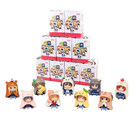 9pcs/set GSC Nendoroid Japanese Anime Figure U M R Cute Nendoroid Doma Umaru PVC Action figure Model collection Toy 7cm(China (Mainland))