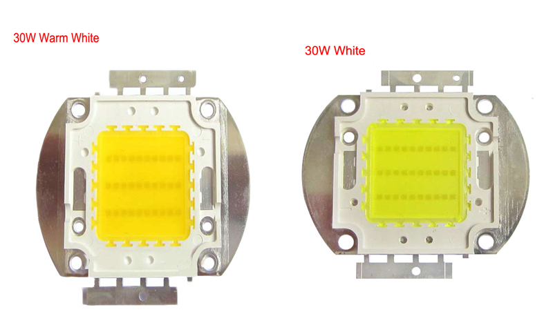 High Power Lot 1x30W 50W 100W White 4500K/Warm White 3000K/Pure White 6500K/Cool White 10000-30000K SMD LED Light Lamp Part Chip(China (Mainland))