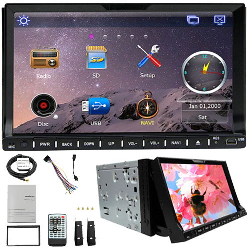 2 Din Rungrace Universal 7 inch Windows CE 6.0 Car DVD Player with Bluetooth / GPS / RDS / ATV Car Radio Stereo Free Shipping(China (Mainland))