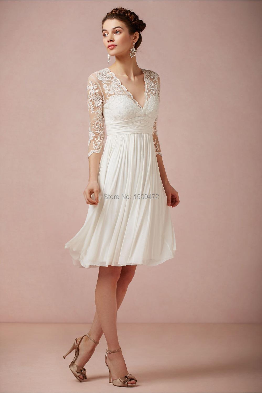 Quarter Sleeve Lace Bridesmaid Dresses