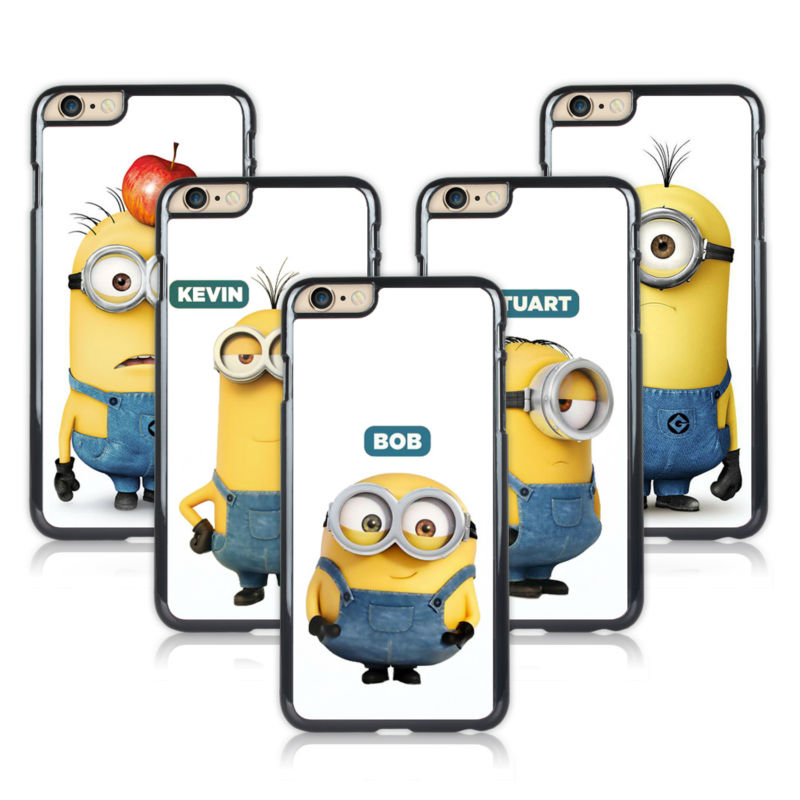 Case For Apple Case iPod Touch 6 Cute Minions BOB Crystal Hard Plastic Cover itouch 6(China (Mainland))