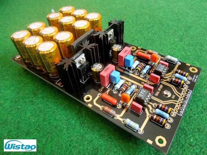 MM Phono Amplifier Board Finished PCBA Turntables Phono Amp OPA2111 Germany DUAL Circuit HIFI Audio DIY Attenuated RIAA Circuit(China (Mainland))