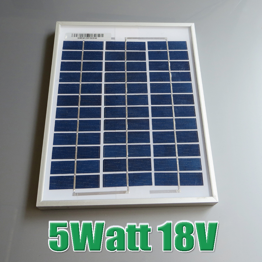 Hot Sale 5W 18V Polycrystalline silicon Solar Panel used for 12V photovoltaic power home system 5Watt(China (Mainland))