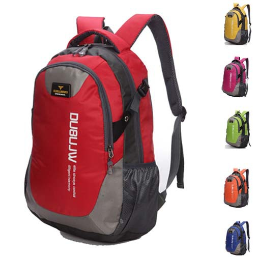 Brand New 2015 Nylon Sport Bags Casual Daily Backpack Unisex Solid High Quality Double Shoulder Women's & Men's Travel Backpack(China (Mainland))