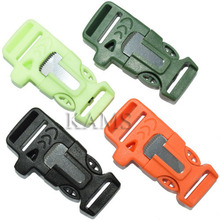"1pcs/pack 3/4""(19mm) Fire Starter Survival Whistle Buckle Flint & Scraper For Paracord Bracelte/ Backpack(China (Mainland))"