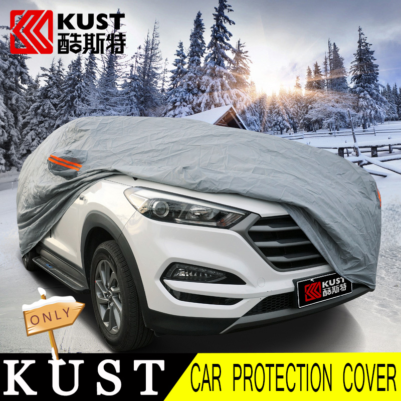 KUST NEWEST version Car Covers For Hyundai For Tucson 2015 PVC Cotton Material Car Surface Body Protection Cover For Tucson 2016(China (Mainland))