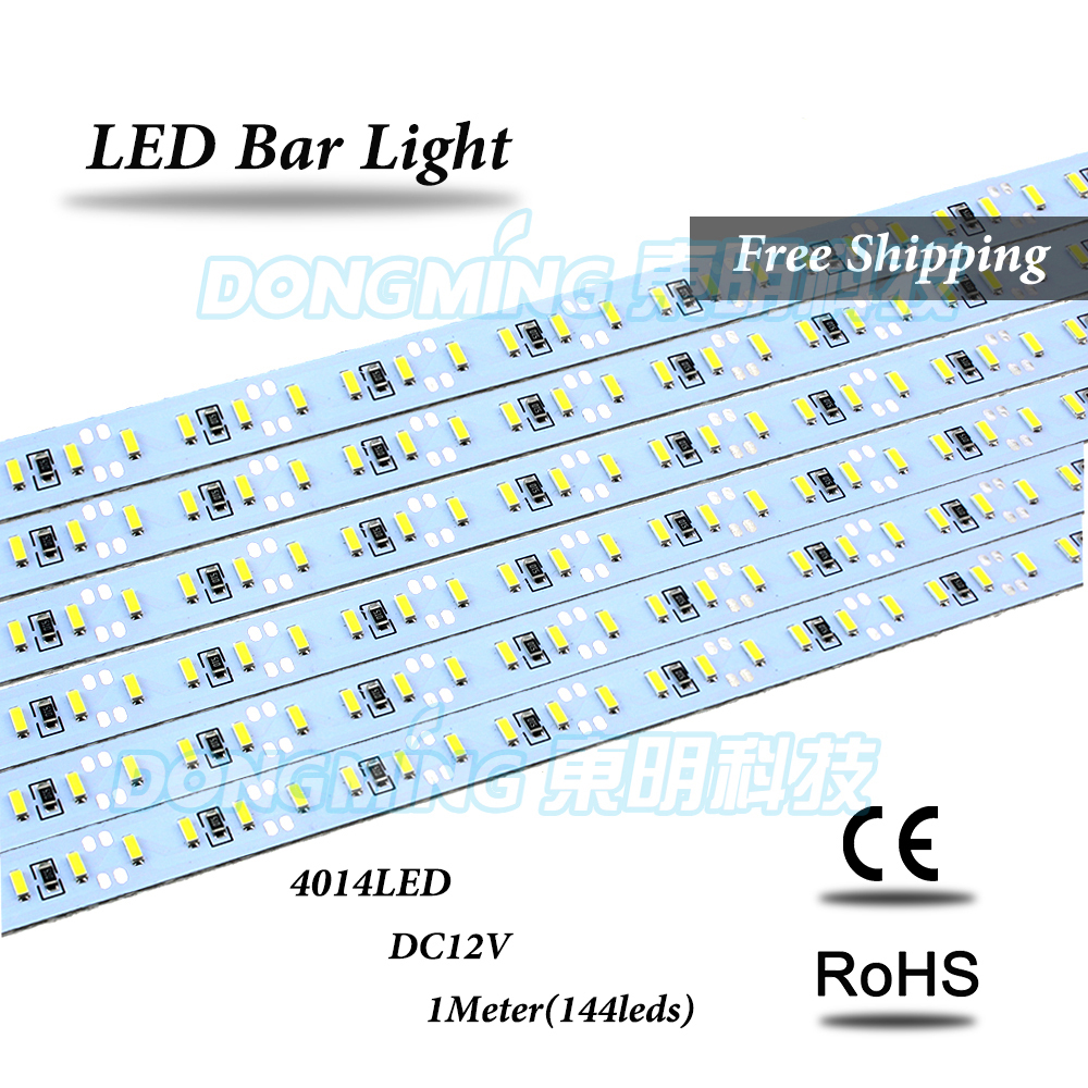 75pcs no waterproof high bright DC 12V 100cm 1m led light bar light 4014, 144 led bar light, led furniture(China (Mainland))