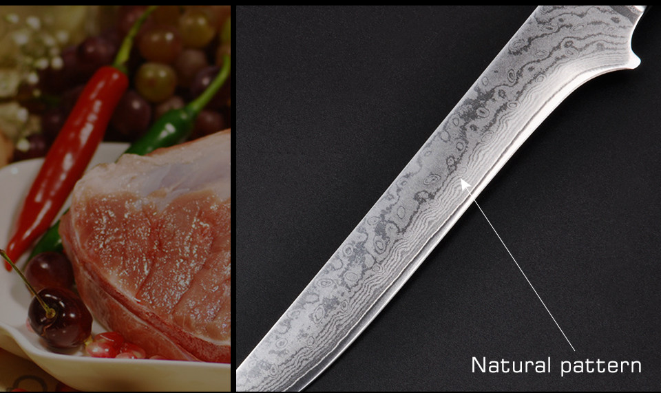 "Buy 6 ""inch damascus boning knives Utility Japanese VG10 Damascus steel kitchen knives Blackwood handle Professional Chef Knife cheap"