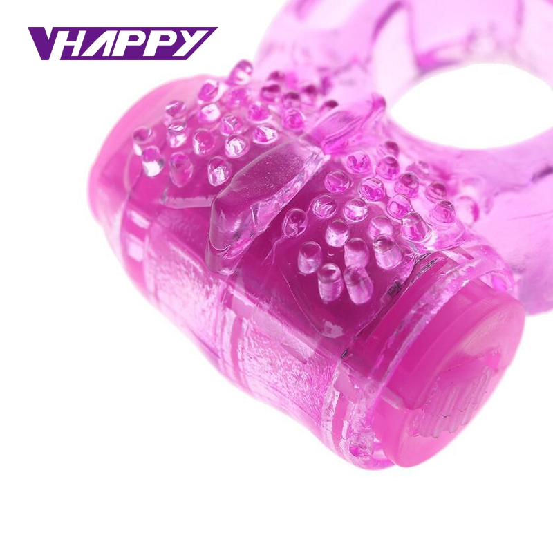 Crystal vibration ring Male essence Vibrating Cock Ring Penis Rings Clit Vibrator Adult Sex Toys For