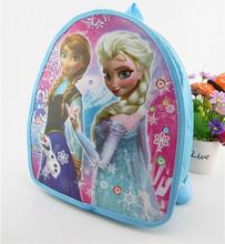 Disny Frozn Cartoon Princess Elsa Anna 1-3Years Old School Backpack Zipper Bag For Kids Birthday Gift Favor(China (Mainland))