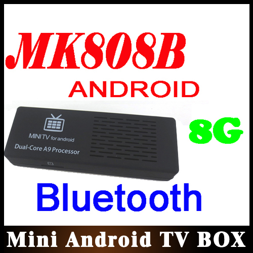 10pcs/lot MK808 Bluetooth Android 4.1 Jelly Bean Mini PC RK3066 A9 Dual Core Stick TV Dongle 50% Wholesale(China (Mainland))