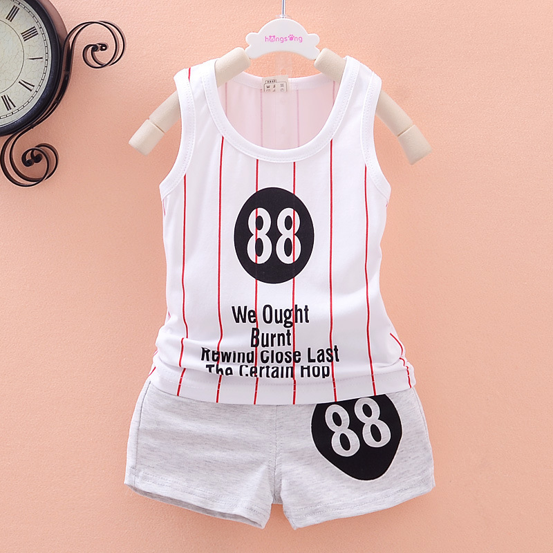 Hot! Summer Style New Children Clothing Set Kids Boys Sports Cloth suit Vest + shorts two piece clothing set Family Cloth set(China (Mainland))