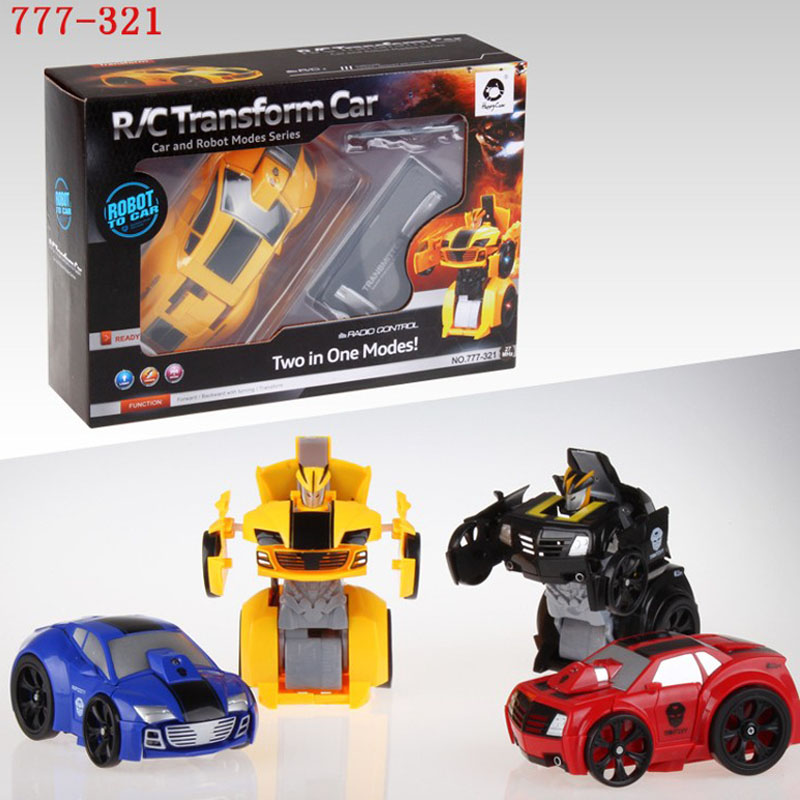 HappyCow 777-321 smart remote control Mini Flashing 2-in-1 rc car electronics robots for kids gift Free Shipping(China (Mainland))