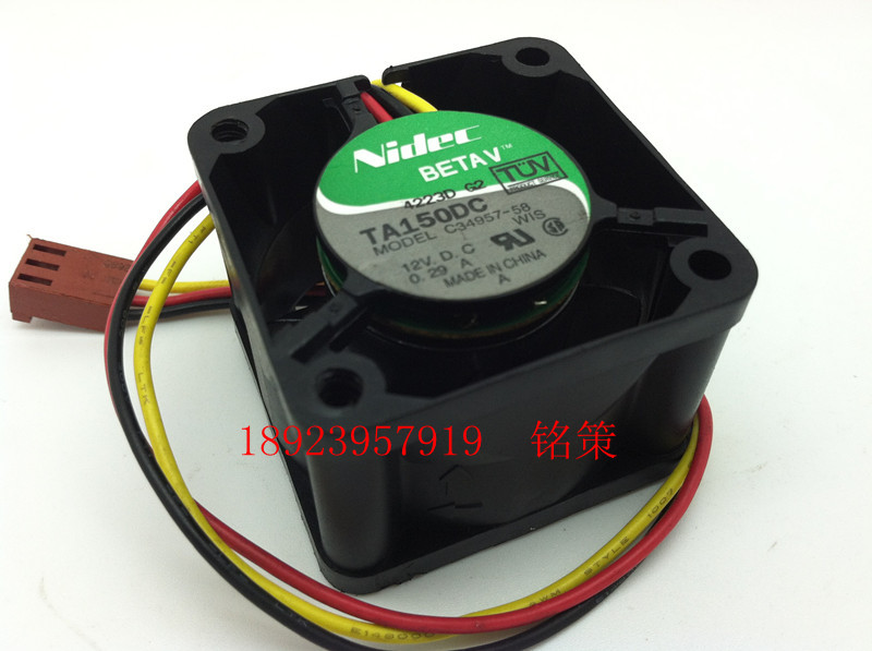 Free Shipping Wholesale Nidec TA150DC C34957-58 12V 0.29A 4028 40mm 4cm server for Cisco switch fan(China (Mainland))