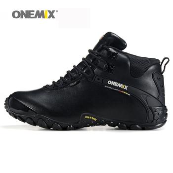 Onemix новый осень зима onemix мужская антипробуксовочная открытый спортивная обувь и шерсти lining женщины кроссовки теплые походы обувь