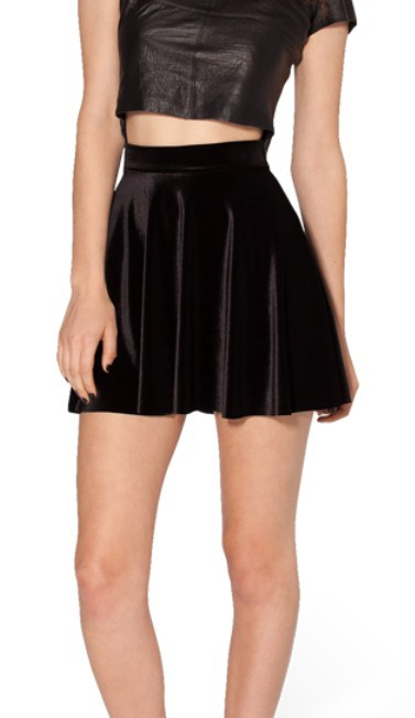 east knitting 2015 high waist velvet pleated skirts