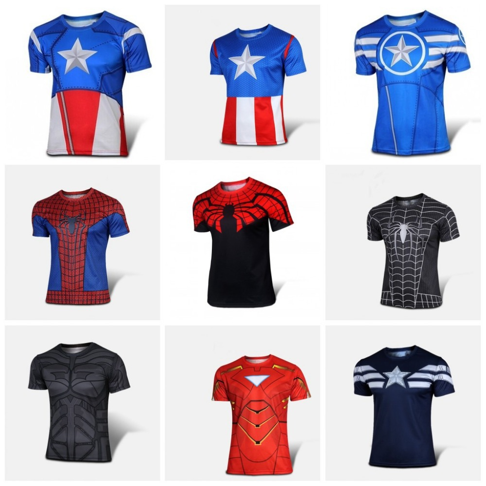 Series 2016, wholesale brand movement closely captain America ride a T-shirt manufacturer to sell t-shirts of captain America(China (Mainland))
