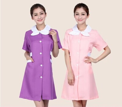 Medical uniforms 2016 nursing scrubs Clothes For Beauty Shop Short Sleeve Doctor Clothing uniformes hospital women Work dress(China (Mainland))