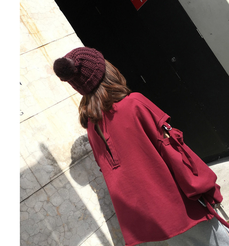 Kesebi Autumn Winter Women with A Ball Thick Warm Knitting Hats Female Casual Solid Color Fashion Simple Skullies Beanies