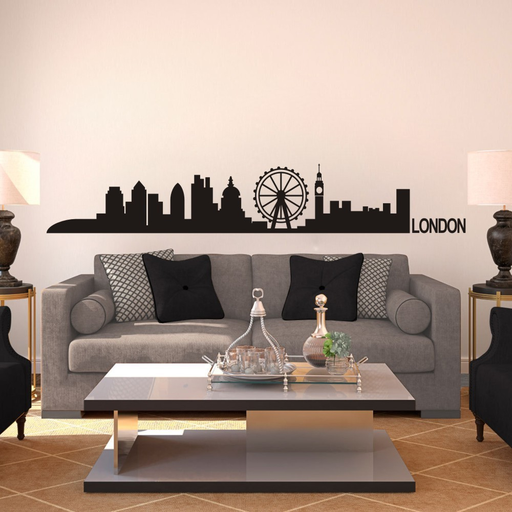 Buy london skyline wall decal decor for Vinilos pared aliexpress