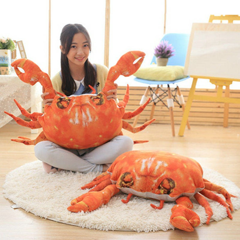 70cm 2017 New Style Crab cloth doll pillow Cushion stuffed plush birthday gift for Children 3D artificial Crab plush Toys(China (Mainland))