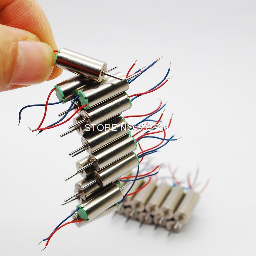 10pcs DC Coreless Motor Helicopter Aircraft Toy Strong magnetic 3.7V 51000RPM(China (Mainland))