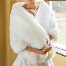 2015 Bridal Wraps Bolero Faux Fur Wedding Bolero Wedding Jacket Winter Wedding Coat White Fur Shawl Coprispalle Wedding(China (Mainland))