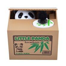 NFLC Cute Panda Stealing Coin Cat Money Box Piggy Bank(China (Mainland))