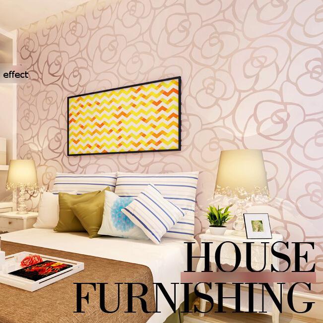 Background wall modern velvet wallpaper gold roses for for Gold wallpaper living room ideas