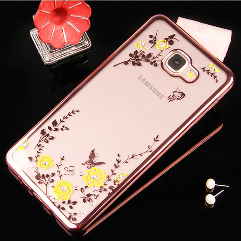 for Samsung Galaxy Grand Prime G530 G530H G530F G5308W G5308 G531H G531F Luxury Flower Bling Soft TPU Clear Diamond Case Cover(China (Mainland))