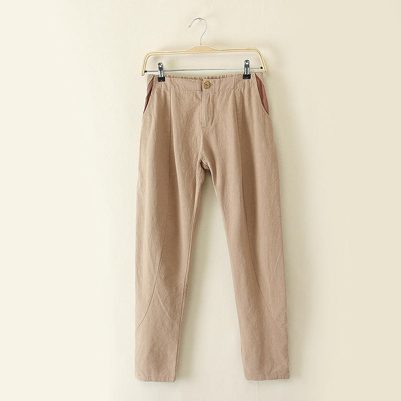 2015 New Mori Girl High Quality Linen Pants for Women Ladies Elastic High Waist Trousers Casual Clothing for FemaleОдежда и ак�е��уары<br><br><br>Aliexpress