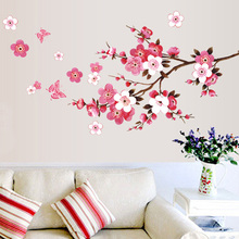 Buy Cherry Blossom Wall Stickers Waterproof Tv Background Wallpaper Mural Art Decal Poster for Kids Children Home Decor Sticker for $2.15 in AliExpress store