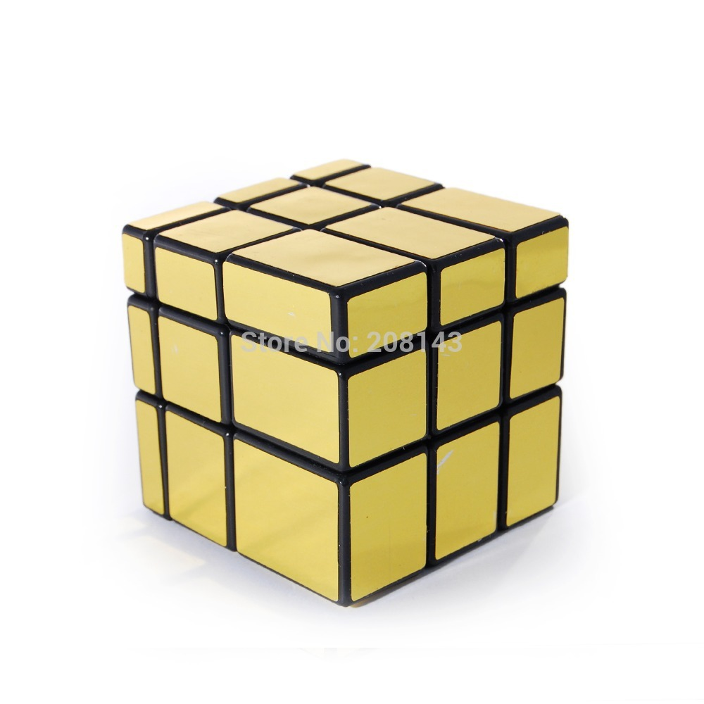 GhostHand (GS) Golden Mirror 3X3 Mirror Block Magic Cube Speed Cube Black Magic Cube Puzzle(China (Mainland))