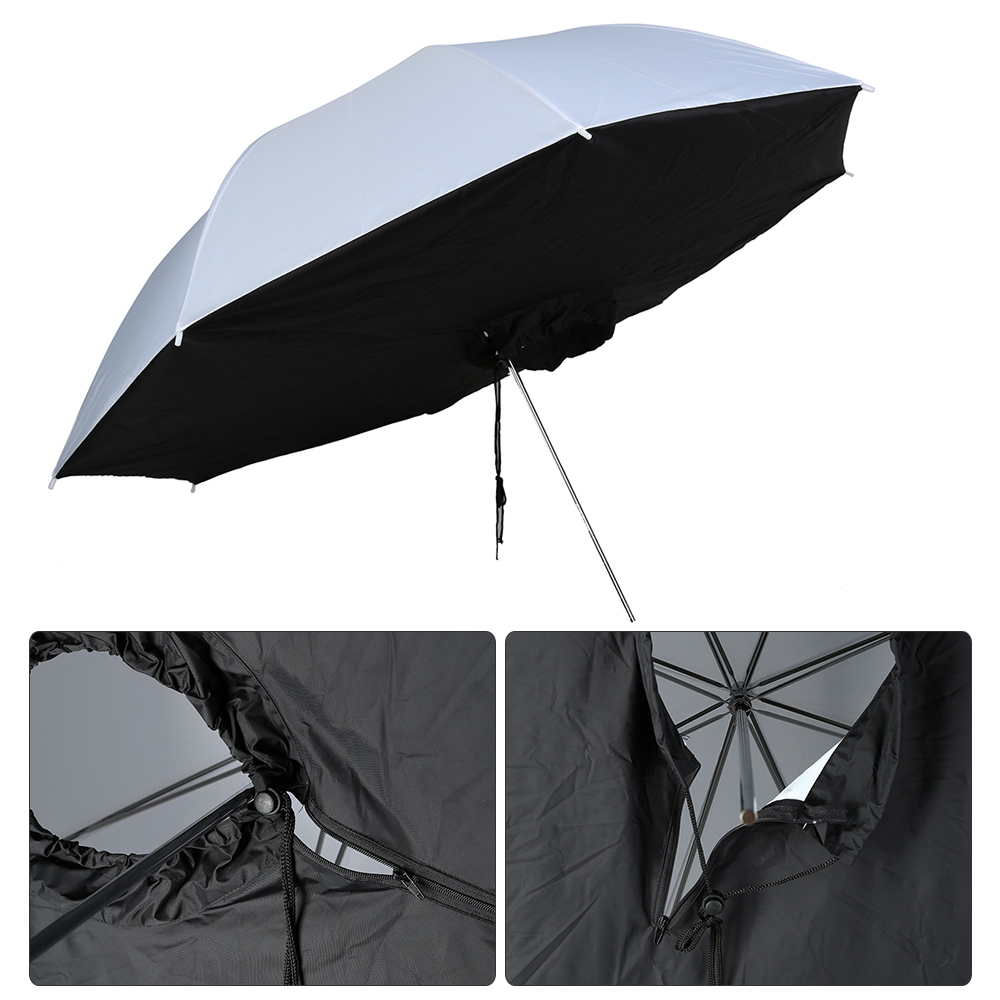 White Black Nylon + Metal 33 inch / 83cm Reflective Photo Studio Umbrella Softbox Umbrella Box(China (Mainland))