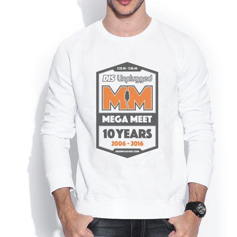 DIS UNPLUGGED OFFICIAL MEGA MEET 1606496 Male Hoodies 3D Retro Design Print Crew Neck Men's Sweatshirts(China (Mainland))