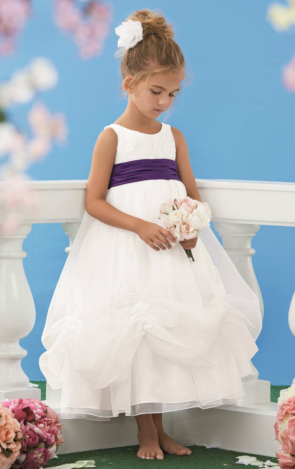 Compare prices on purple bridesmaid dresses little girls online a line flowers girl dresses organza purple sashes junior bridesmaid gown applique pleats little white ombrellifo Image collections