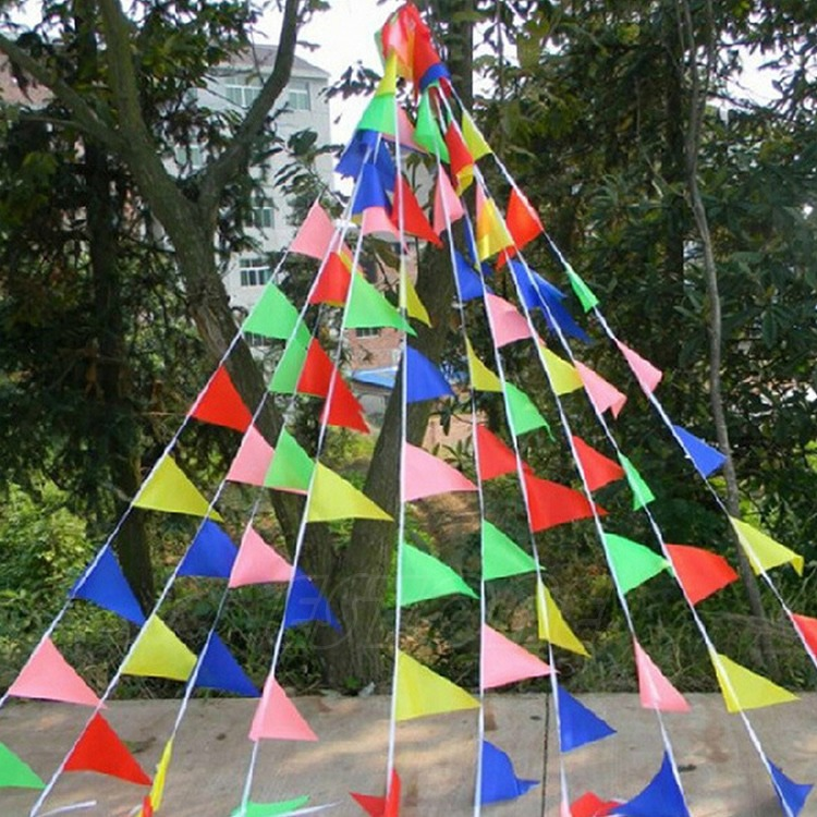 22M Outdoor Rainbow Bunting Party Flags/Huge Birthday Parties/Market Stalls(China (Mainland))