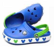 2015 summer hole Children Brand Cartoon Garden Shoes Mickey Clog Sandal Slippers baby girls and boys beach slides(China (Mainland))