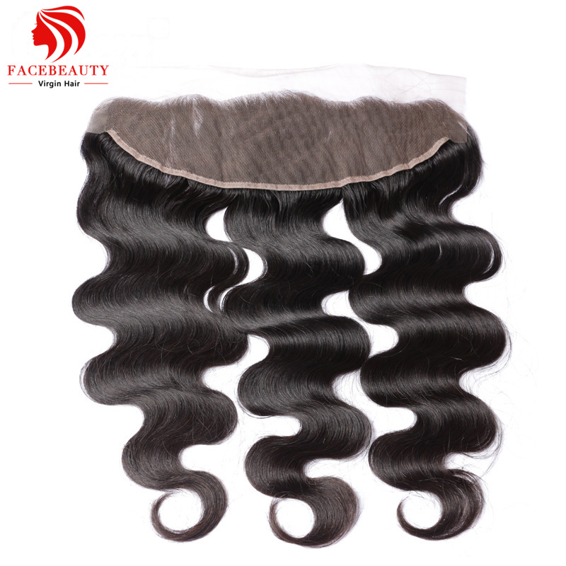 Lace Frontal Closure Human Brazilian Virgin Hair Lace Front Human Hair Wigs Frontals Closure Body Wave 13x4 1 Piece Sew in Wig(China (Mainland))