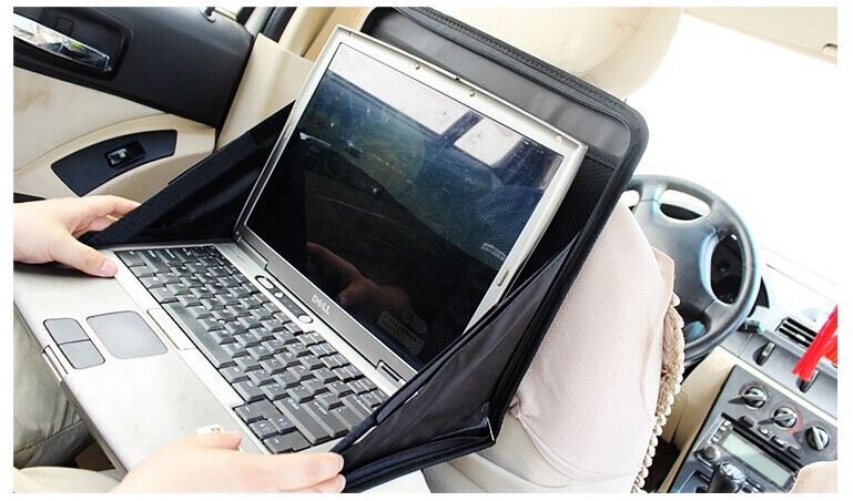 New Arrival Car Notebook Stand Holder Portable Car Back Seat Laptop Tray Table Folding Computer Rack Food Drink Holder Table(China (Mainland))