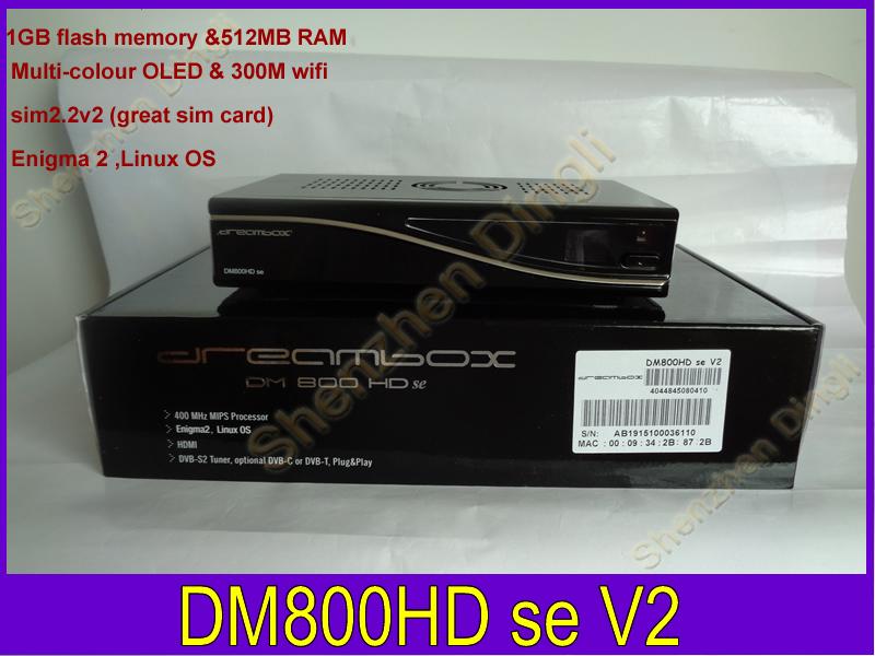 2014 Best Model DM800HD SE V2 wifi PVR HD TV Satellite Receiver Dm 800se V2 REV E motherboard 1GB Flash 512MB RAM boot SSL88(China (Mainland))