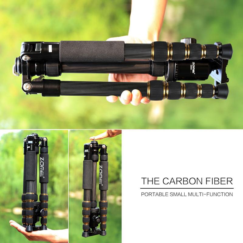 Zomei Z669C профессиональные видеокамеры штатив из углеродного волокна & шаровой штативной головки