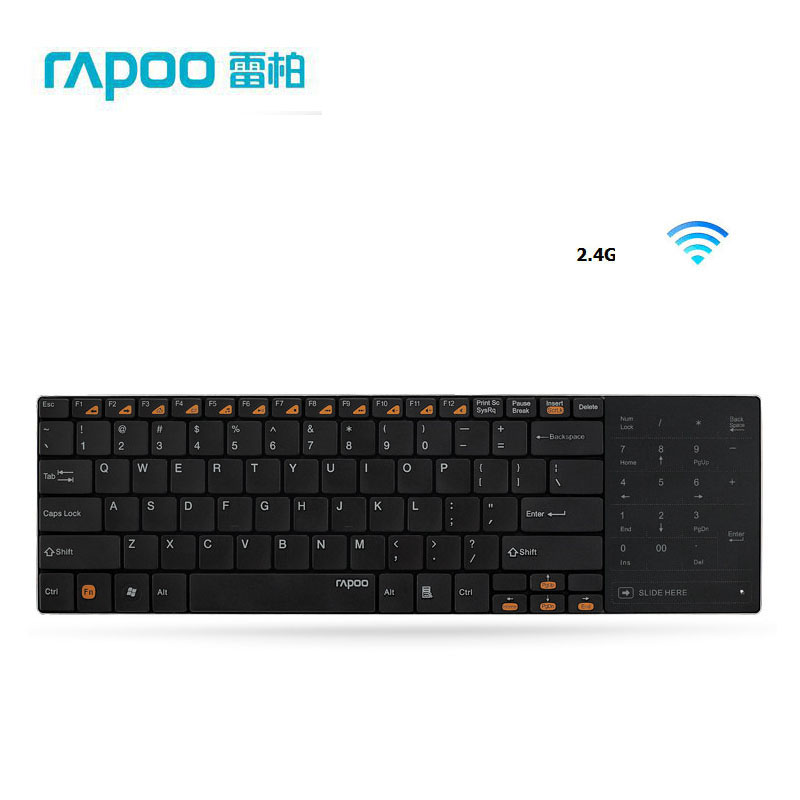 Rapoo E9080 Slim 2.4G Wireless Mini Keyboard With Nano Receiver Smart Touch Zone for Mac OS PC Computers(China (Mainland))