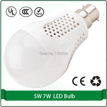 Free shipping 1 piece B22 base A19 LED lamp bulb with Energy Star 5W 450lm a60 led bulb B22 60W Equivalent bulb light B22(China (Mainland))
