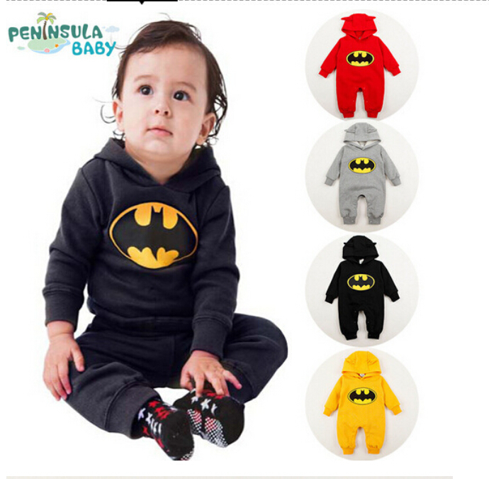 baby fleece batman hoodies overall kids clothing newborn. Black Bedroom Furniture Sets. Home Design Ideas